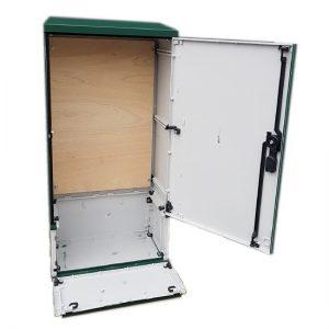3 Phase Meter Box Green 530x1064x320 mm