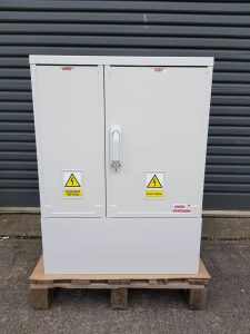 GRP Electric Meter Box W660 x H910 x D320 mm , GRP Cabinet , New Electricity Connection