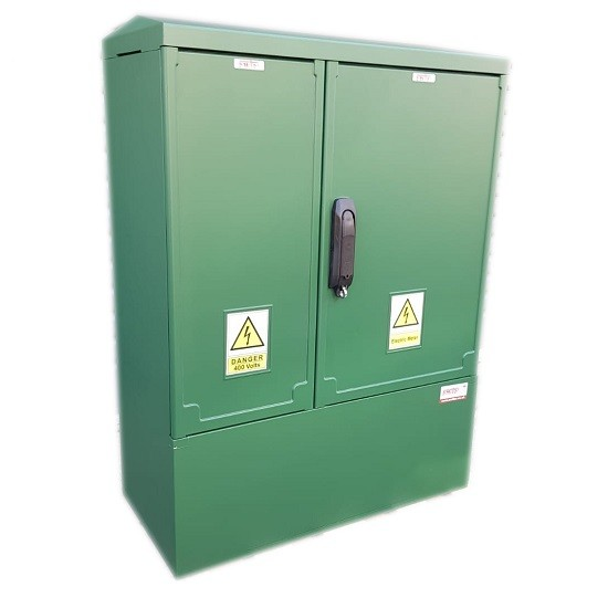 GRP Electric Enclosure, Kiosk, Cabinet, Meter Box, Housing, Green (W660, H910, D320)mm