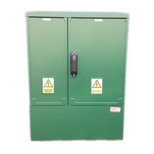 GRP Electric Enclosure, Kiosk, Cabinet, Meter Box, Housing, Green (W660, H910, D320)mm
