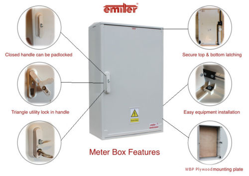 Electric Meter Box 260x400x245 mm Surface Mounted (Copy)